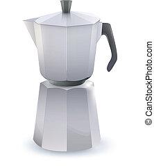 Coffee pot. Vector design