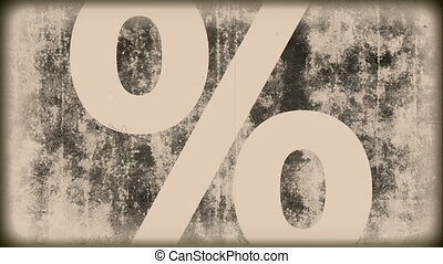 Grunge Vintage - percent sign - Animation on discount...