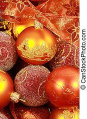 ボール, クリスマス, リボン