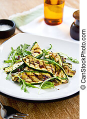 Grilled courgette salad - Grilled courgette with dreid...