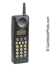 Old fashioned mobile phone - Old fashioned black mobile...