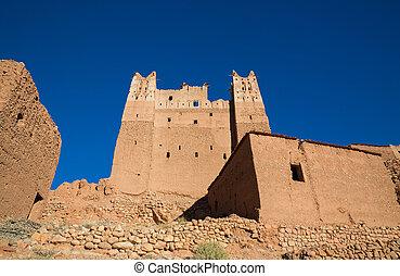 Morocco Kasbah wide angle - Wide angle view of Morocco...