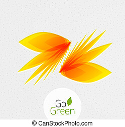 Abstract flower design Go Green concept