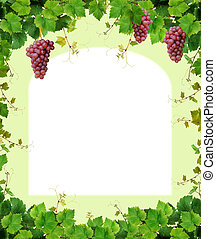 Fresh grapevine border - Decorative grapevine frame,...