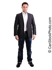 Full length portrait of a young man standing