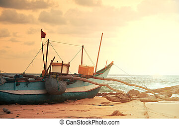 Boat on Sri Lanka - Fishing boat on Sri Lanka