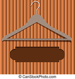 Clothes hanger - Location for the advertising text under...