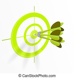 Multiple darts bullseye - Darts hitting directly in bulls...