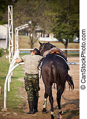 horse and soldier care with love on location