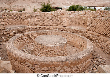 King Herods palace ruins - Excavations near Jericho city of...