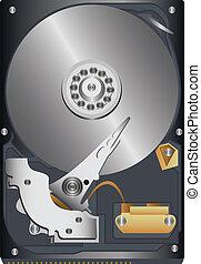 hard disk - original hard disk on a white background