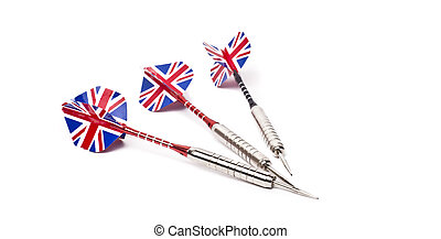 dart arrows on white background