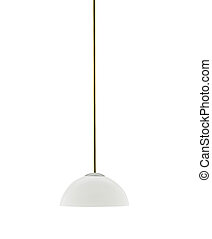 tall floor lamp isolated on white