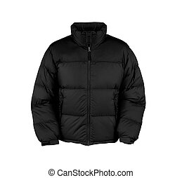 black male winter vest isolated