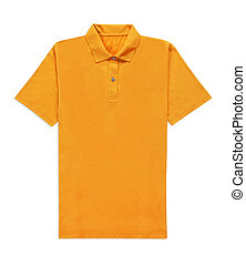yellow t-shirt isolated