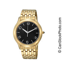 Mens luxury gold wrist watch