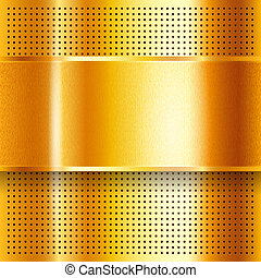 Metallic perforated golden sheet