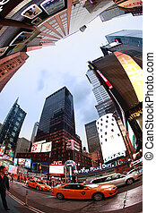 Times Square. New York City - NEW YORK CITY - OCT 9: Times...