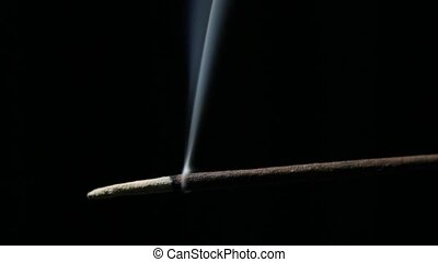 Incense Stick Burning Time Lapse - Timelapse video of...