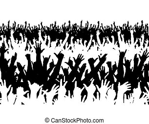 Concert crowd - Illustration of a large crowd