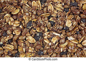 Chewy Granola Bar Top Close View - A close view of the top...