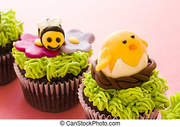 Easter cupcakes - Gourmet chocolate Easter cupcakes...