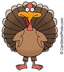 Thanksgiving Turkey - Illustration of an isolated...