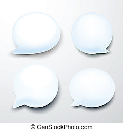 Glossy speech bubbles. - Vector set of glossy speech...