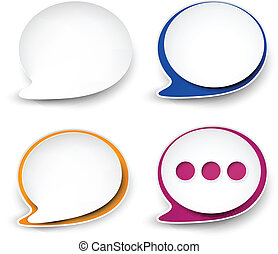 Paper rounded speech bubble. - Vector illustration of paper...