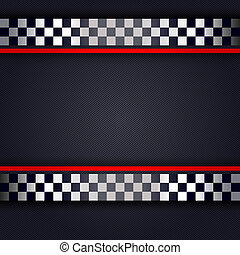 Perforated metallic sheet for race, vector illustration...