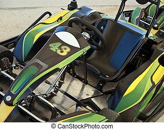 go kart - empty seat of go kart