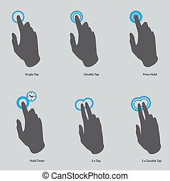 touch-gesture-icons - touch screen gesture, interface...