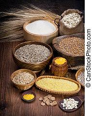 cosechas, vario, Platos