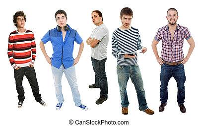 hombres, grupo