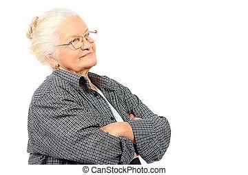 serio, abuelita