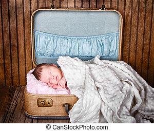recem nascido, criança, bebê, dormir