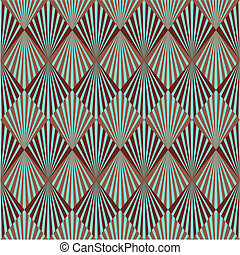 Art Deco pattern - Art Deco style seamless pattern texture