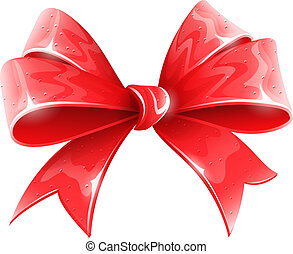 red bow for holiday gift