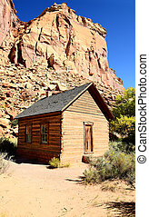 Frontier schoolhouse, Capitol Reef, Southern UT