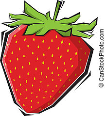 strawberries illustration painting