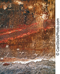 red ochre wall - A wall with red ochre coloring