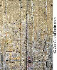 wooden wall - High definition photograph of a ancient worn...