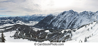 Panorama in Bavarian Alps, Berchtesgadener Land, Germany