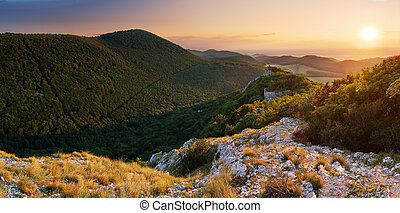 Mountain panorama in Slovakia - Small Carpathian
