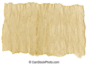 Old paper, isolated over white background