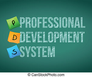 professional development system and posts on a blackboard