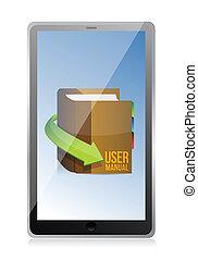 Online User guide, user manual book illustration design