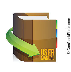 User guide, user manual book illustration design