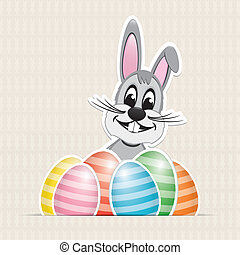 colorful white striped easter eggs