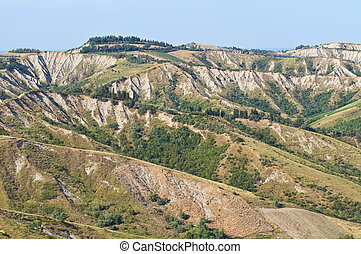 Badlands. Emilia-Romagna. Italy.